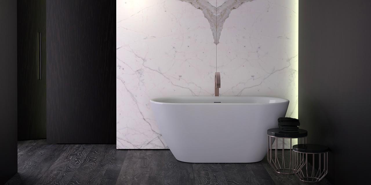 Fritstående badekar fra Danline i et flot design